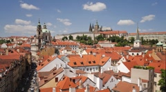 St. Nicholas Church and St. Vitus Cathedral, Prague, Czech Rep - T/lapse Stock Footage