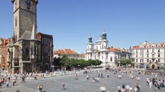 Old Town, Stare Mesto Square, Prague, Czech Republic, Europe, T/Lapse Stock Footage