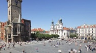 Stock Video Footage of Old Town, Stare Mesto Square, Prague, Czech Republic, Europe, T/Lapse