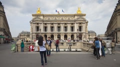 The Paris Opera House, (Palais Garnier), Paris, France - T/lapse Stock Footage