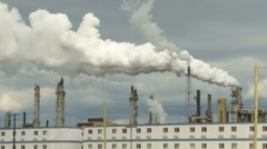 Oil sands processing plant Stock Footage