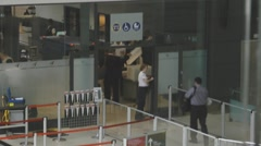 Passengers At The Airport Security Area Of Ottawa Airport Canada Stock Footage