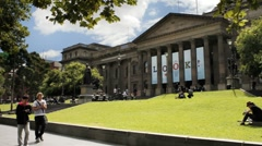 State Library, Melbourne, Australia 4K Stock Footage
