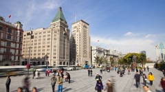 Promenade, by the Huangpu waterfront, the Bund, Shanghai, T/Lapse - stock footage