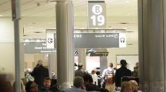 Gate 19B at Atlanta Airport Stock Footage