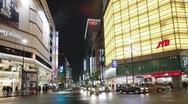 POV Streets at night seen from driving car, Shinjuku Ward, Tokyo, T/Lapse Stock Footage