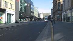 British Double Decker Buses Argyle Street Glasgow Scotland UK Stock Footage
