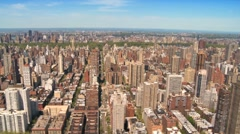 Aerial view of the Upper East Side and Central Park, Manhattan, NY, USA Stock Footage