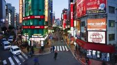 Shinjuku, Tokyo, Honshu, Japan, Asia - T/lapse Stock Footage