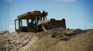 Stock Video Footage of Bulldozer at work