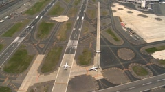 Aerial view of La Guardia Airport and Freeway system, New York, USA Stock Footage