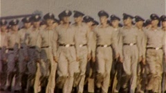 Soldiers PARADE MARCH Salute Bootcamp Army 1960s Vintage Film Home Movie 272 - stock footage