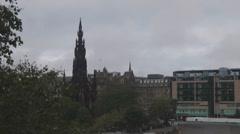 The Walter Scott Monument Time Lapse Edinburgh Scotland UK Stock Footage