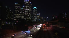 Los Angeles freeway NIGHT time apse 3 Stock Footage
