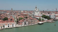 Venice St Marks from ship leaving fast TL P HD 1262 Stock Footage
