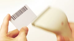HD - Card with BarCode Stock Footage