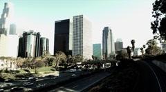 Freeway in Los Angeles - stock footage
