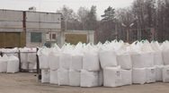 Stock Video Footage of Bags of fertilizer