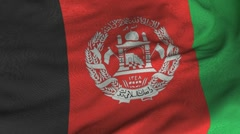 Seamless Waving Afghani Flag with Fabric Texture Stock Footage