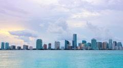 Miami at Dusk - stock footage
