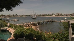 Time Lapse of Boats in Harbor Stock Footage