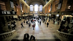 Grand Central Station New York, with people arriving and departing, USA Stock Footage
