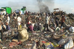 CAMBODIA-GARBAGE DUMP 89 Stock Footage