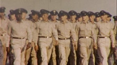 Proud US ARMY Soldiers Marching Men Salute 1960s Vintage Film Home Movie 273 Stock Footage