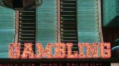 Neon Gambling sign Stock Footage