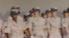 USA Female Soldiers March WOMEN MARINES 1966 Vintage Film Home Movie 275 Stock Footage