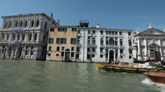 Venice Grand Canal from Vaporetto boat P HD 1246 Stock Footage