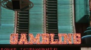 Neon Gambling sign 2 Stock Footage