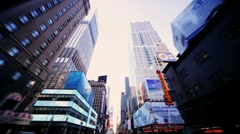 Time Lapse with Point of View driving Times Square, Broadway, NY, USA - stock footage