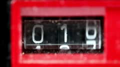 Retro vintage ghettoblaster number counter Stock Footage