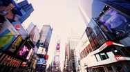 Stock Video Footage of Point of View driving in Times Square Manhattan, New York, North America, USA