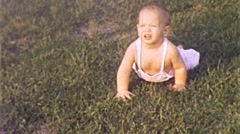 Crawling Baby Boy Circa 1955 (vintage Film 8mm Home Movie) 280 Arkistovideo