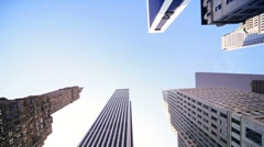 Elevated view of Steel, Glass and Concrete Skyscrapers, USA Stock Footage