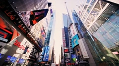 Point of View driving in Times Square Manhattan, New York, North America, USA - stock footage