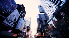 Point of View driving in Times Square Manhattan, New York, North America, USA Stock Footage