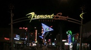 Stock Video Footage of Fremont East neon sign