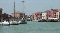 Venice Murano restaurants and business P HD 9514 Stock Footage