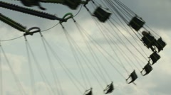 Silhouette of Swings at Carnival Stock Footage
