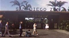 Family at the San Diego Zoo circa 1960 (Vintage Film 8mm Home Movie) 291 Stock Footage