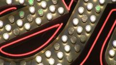 Vegas Lights closeup Stock Footage