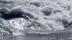 Turbulent water Stock Footage