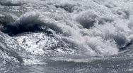 Stock Video Footage of Turbulent water