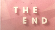 THE END Title Leader Finale Ending Retro Graphic Home Movie Vintage Film 296 Stock Footage