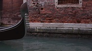 Stock Video Footage of gondola on canal in Venice