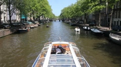 Amsterdam Tourboat Stock Footage