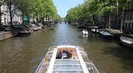 Stock Video Footage of Amsterdam Tourboat